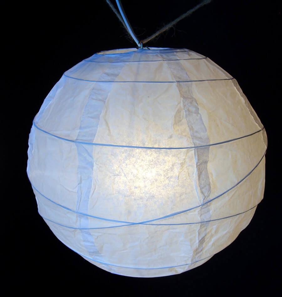 "10 White 8"" Paper Lanterns"
