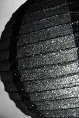 12 Inch BLACK GLITTER Paper Lanterns