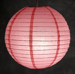 Coral Pink Paper Lantern 12in