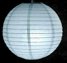 Paper Lantern Ice Blue 12in