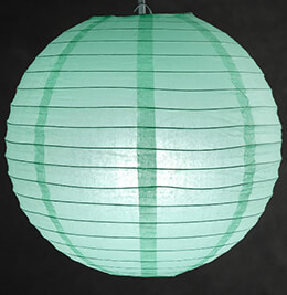 "12"" Mint Green Paper Lanterns"