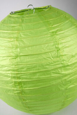 "Paper Lanterns  12""  LIME GREEN"