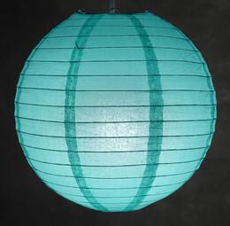 "Paper Lanterns 12"" Oasis Blue Paper Round Lantern"
