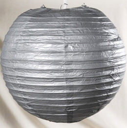 "Paper Lanterns 12"" Silver Metallic"
