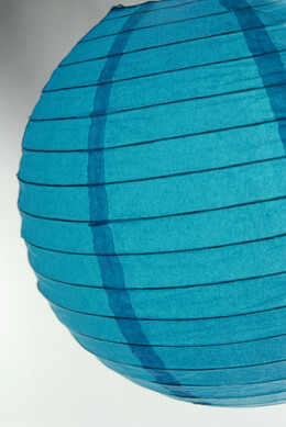 Paper Lantern Turquoise Blue 12in