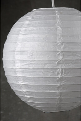 "12"" WHITE Paper Lanterns  (PACK of 10)"