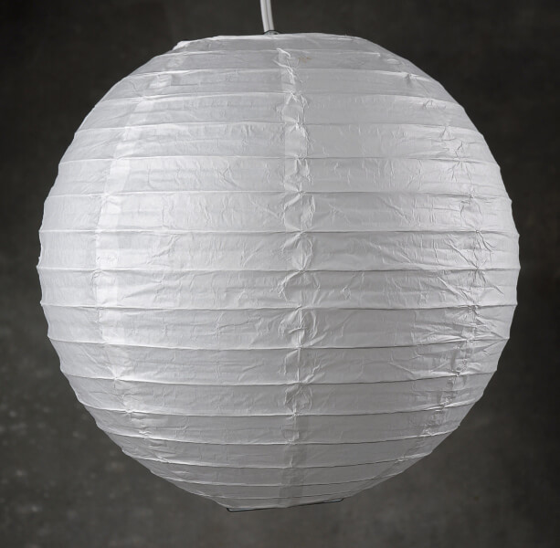 White Paper Lantern 12in (Pack of 10)