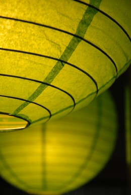 "Paper Lanterns 16"" Chartreuse Green"