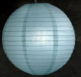 "Paper Lanterns 16"" Ice Blue"