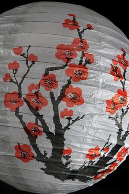 "Paper Lanterns 16"" Japanese Bon Festival Cherry Blossoms Paper Round Lantern"