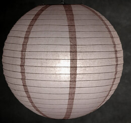 "16"" LIGHT BROWN Paper Lanterns"