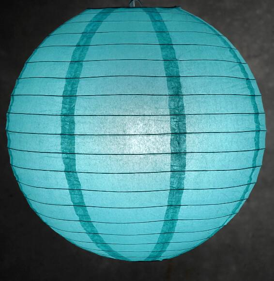 Paper Lantern Oasis Blue 16in