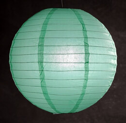 "16"" Mint Green Paper Lanterns"