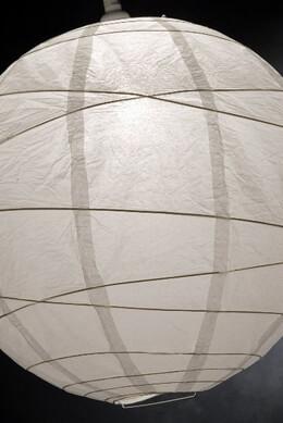 "Paper Lanterns 18"" White Rice Paper Round Lantern"