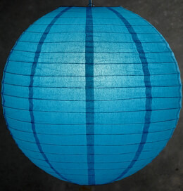 Paper Lantern Turquoise Blue 20in