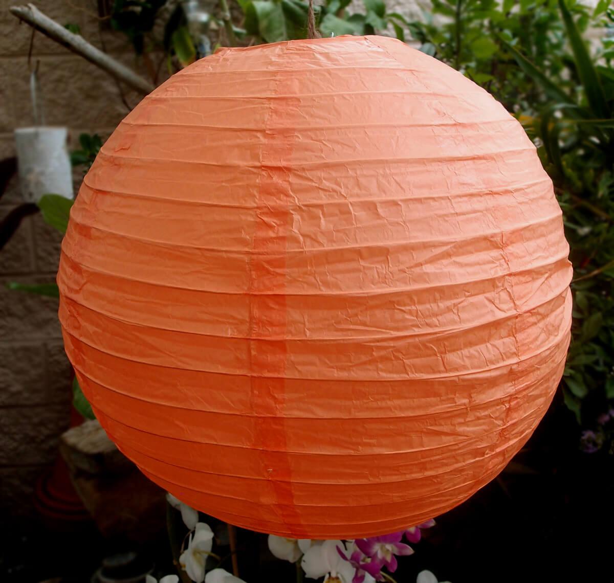 "24"" PEACH / LIGHT ORANGE Paper Lanterns"