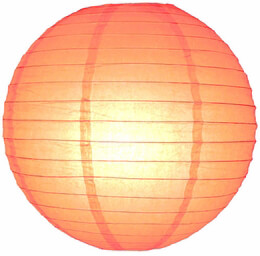 "24"" PEACH / LIGHT ORANGE Paper Lanterns"