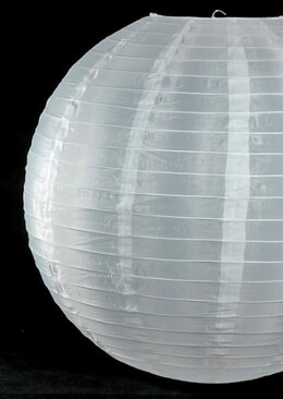 "24"" Large WHITE Nylon Paper Lanterns  Wedding Lanterns"