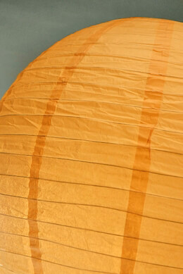 Paper Lantern Pumpkin Orange 24in