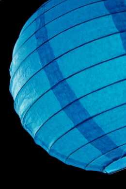 Paper Lanterns Blue 8in (Pack of 10)
