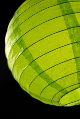 Paper Lanterns Green Chartreuse Round Paper Lanterns 8in