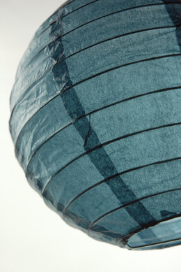 Paper Lanterns Slate Blue Round 8in (Pack of 10)