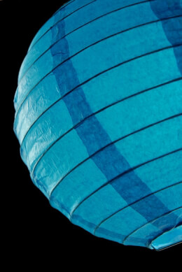 Paper Lantern Turquoise Blue 8in (Pack of 10)