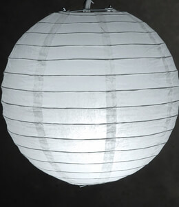 "8"" WHITE Paper Lanterns (10 PACK)"