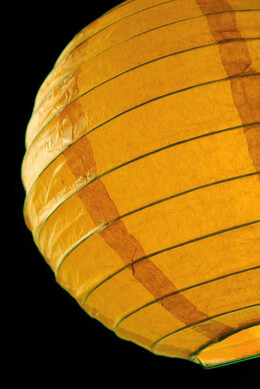 "8"" Paper Lanterns MAZE YELLOW (PACK of 10)"
