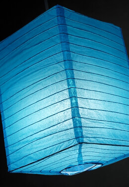 Paper Lanterns Box Turquoise Blue (6 Lanterns)