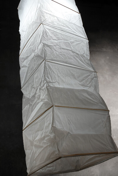 """Rice Paper & Bamboo 45"""" Lantern  WHITE"""