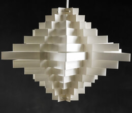Paper Lantern Geometric White 10in