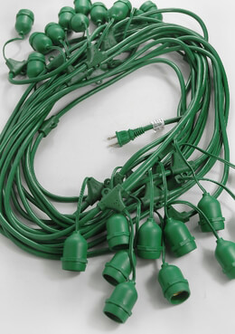 "Paper Lanterns Lights 24 count 56' Commercial w/ 7"" Long Suspender - Green"