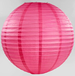 Paper Lanterns Pink Rose 24in