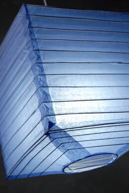 "Paper Lanterns Shoji Blueberry 10"" Square Lanterns"