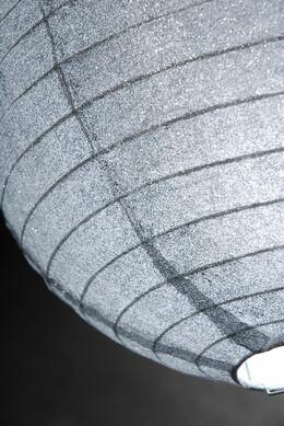 Paper Lantern Silver Glitter 12in