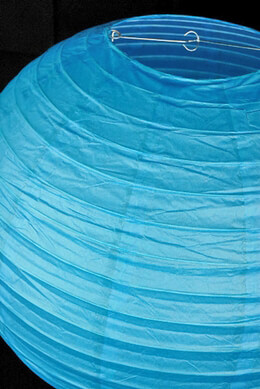 Paper Lantern Turquoise Blue 24in