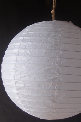 "24"" WHITE Paper Lanterns, Wedding Lanterns"