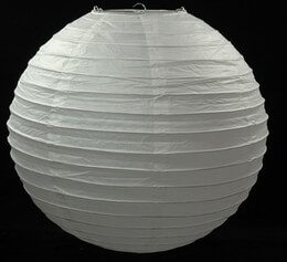 "24"" WHITE Paper Lanterns , Wedding Lanterns"