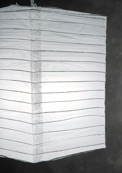 "6 WHITE 10"" Hako Paper Lanterns, Rectangle 8x8x10"
