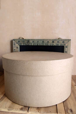 Paper Mache Hat Box  10x5  Round