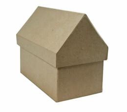 """Paper Mache Houses Boxes (4"""" x 7"""" x 6"""")"""
