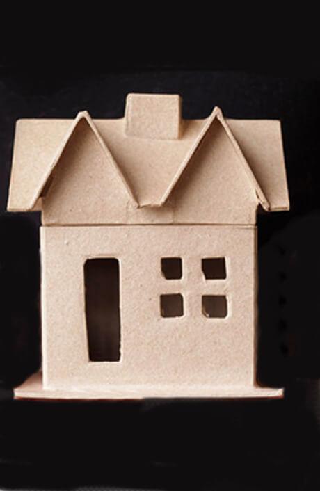 paper mache house 6x5