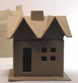 """Paper Mache Houses Boxes (6"""" X 5"""" X 4"""")"""
