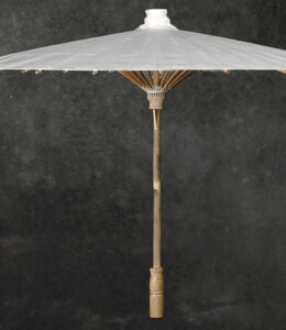 Paper Parasol White 28in
