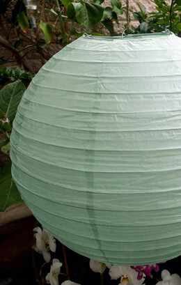 "20"" Mint Green Paper Lanterns"