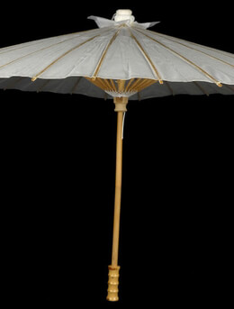 Parasols White Paper & Bamboo 40""