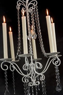 Flea Market Crystal Chandelier Candleholder