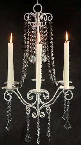 Paris Flea Market Crystal Chandelier (6 Candleholders)