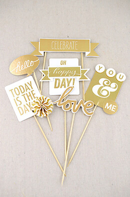 Party Picks Metallic Gold (Pack of 6)